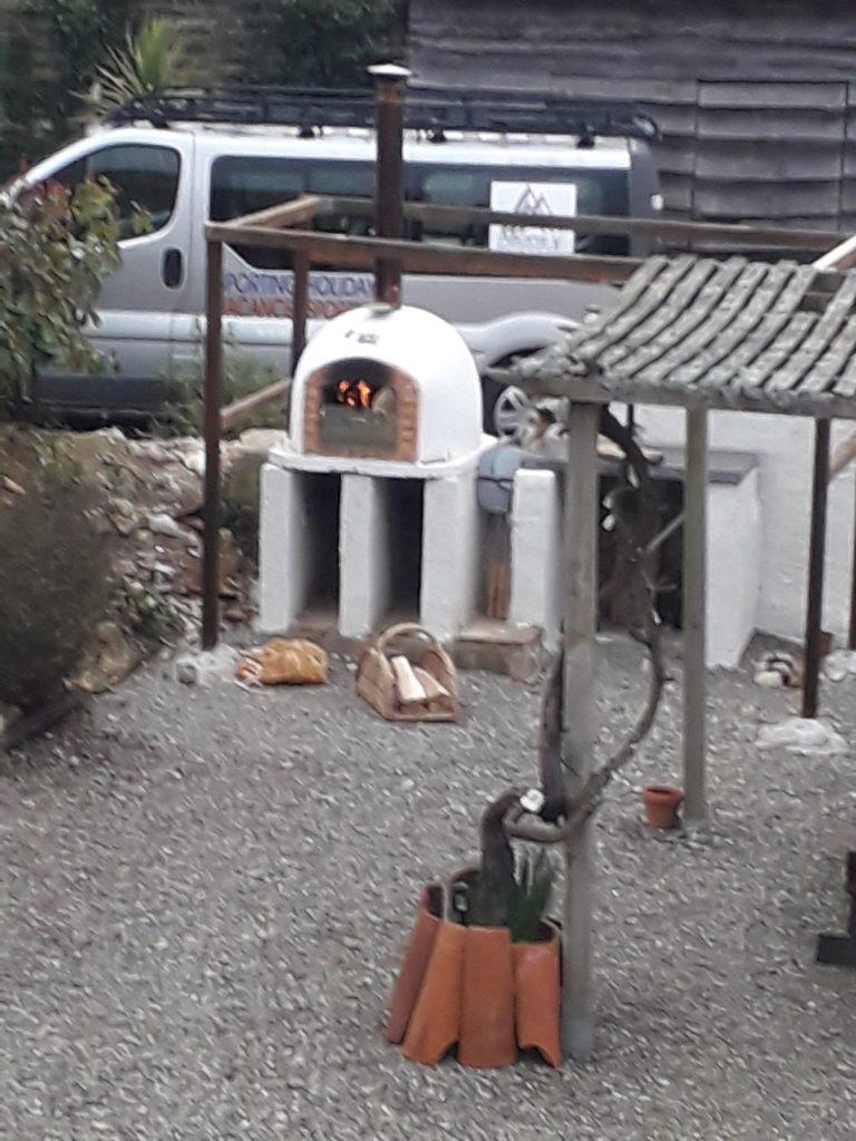 pizza shelter in progress