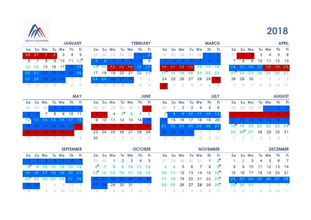 Calendar update April