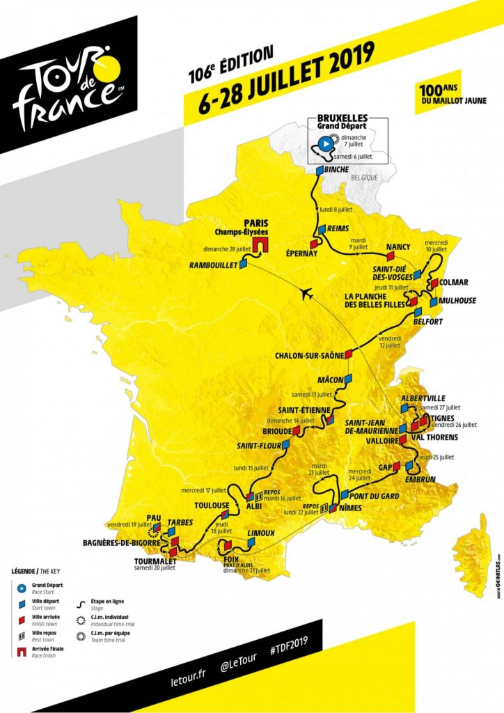 TDF 2019 route