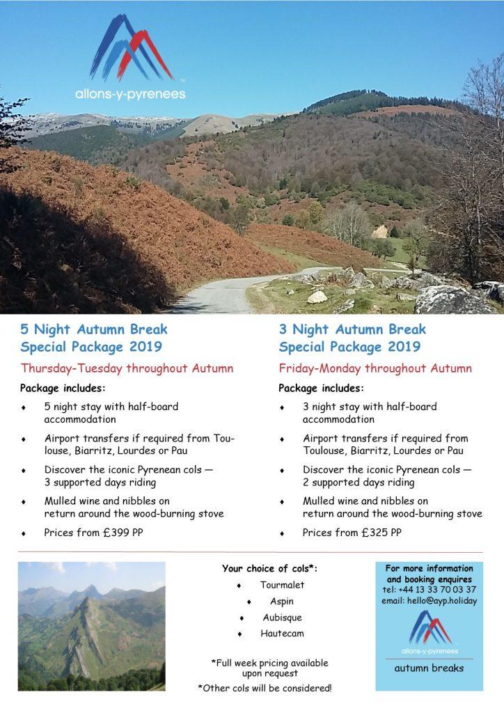 Autumn offers 2019